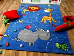 Kinderteppich blau  Top 30 Kinderteppich Tiere - www.Kinder-Teppich.net