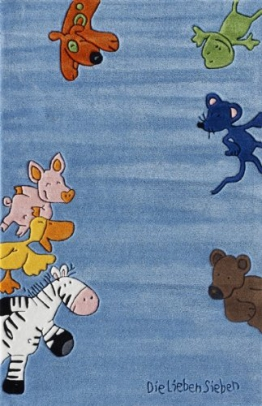 Ls-2195-01 Teppich Die Lieben Sieben blau 110x170 - 1