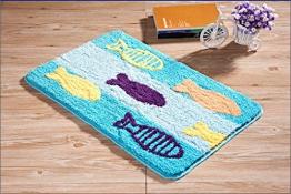 Luxbon Teppich Stopp Antirutschmatte Teppichunterlage Fussmatte Badematte Kinderteppiche Spielteppich Fisch Muster 60x90 cm - 1