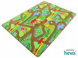 Mein Dorf HEVO ® Strassen Spielteppich | Kinderteppich 200x200 cm - 1