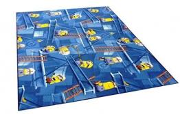Minions Teppich Spielteppich blau Minion Kinderteppich Kinderzimmer Spielmatte