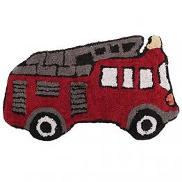 Mucky Fingers Kinder Jungen Teppich / Vorleger in Feuerwehrauto-Form (One Size) (Feuerwehrauto) - 1