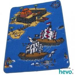 Piraten HEVO ® Teppich | Kinderteppich | Spielteppich 67 x 92 cm - 1