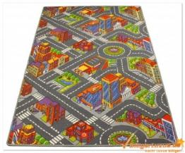 Premium Spielteppich Straßen Kinderteppich Straßenteppich in der Größe 183 x 122 cm - 1