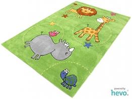 Safari grün HEVO ® Handtuft Teppich | Kinderteppich | Spielteppich 110x170 cm Öko Tex 100 - 1