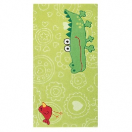 Sigikid Kinderteppich Happy Zoo Crocodile | grün | 140 x 200 cm - 1