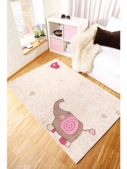 Sigikid Kinderteppich Happy Zoo Elephant Beige 70x140 cm - 1
