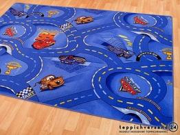 Spiel Kinderteppich Disney Cars Blau in 24 Größen, Größe:140x200 cm - 1