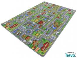 Spiel Stadt HEVO ® Teppich | Spielteppich | Kinderteppich 135x200 cm - 1