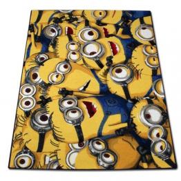 Spielteppich Minions - Kinderteppich - Teppich für Kinder - Kinderzimmerteppich - Minions Spiel Teppich 133x95cm mit Modellauswahl (Minions) - 1