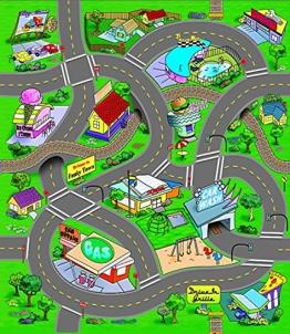 Spielteppich mit Straßen, inkl. Spielzeugauto, 10 verschiedene Ausführungen - 1