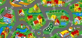 Spielteppich Stadt 140 x 200 - 1