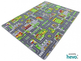 Stadt Mix HEVO ® Strassen Spielteppich | Kinderteppich 145x200 cm - 1