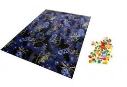 Star Wars Spielteppich Lernteppich Kinderspielteppich Teppich + 1 GRATIS ZUGABE (100 x 150 cm) - 1
