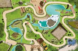 Tierpark / Zoo Spielmatte (Spielteppich) für das Kinderzimmer - Maße: ca. 150 x 100 cm - Zubehör passend für Schleich, Papo, Bullyland, Playmobil, Lego etc. - 1