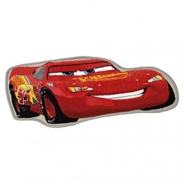 ToyOne Disney Cars Kinder Teppich McQueen Figur 90x45cm - 1