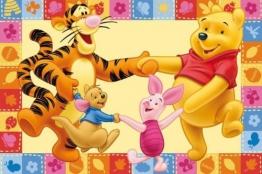 ToyOne Disney Winnie Pooh & Friends Kinder Teppich 170x100cm - 1