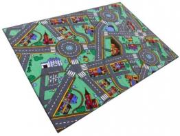 Traffic School Spielstrasse Spielteppich Teppich Strasse Strassenteppich Kinderteppich 140 x 200 cm - 1