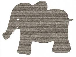 tretford Plus 7 Kinderteppich Elefant Farbe 538 ca. 97x75 cm - 1