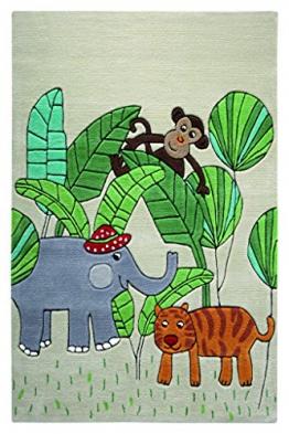 WECON home Smart Kids Kinderteppich Jungle Friends SM-3983-01, Teppichgröße:130 x 190 cm - 1