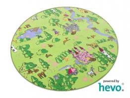 Zauberwald HEVO ® Mädchen Teppich | Spielteppich | Kinderteppich 160 cm Ø Rund Oeko-Tex 100 - 1